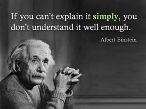 Einstein- if you cant tell it simply